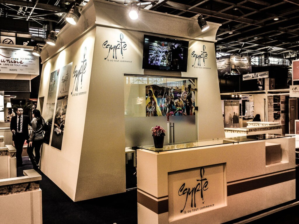 Xds expo design system egypt pavilion salon mondiale for Salon mondial du tourisme paris