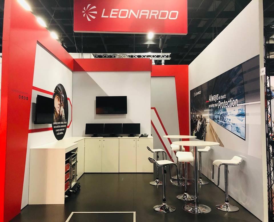 Leonardo Company stand PRMEXPO 2018 COLOGNE