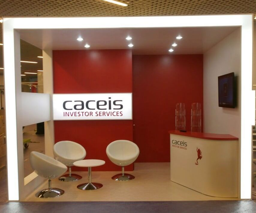 exhibition stand builder for Caceis FundForum Monaco