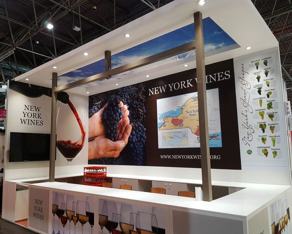 New York Wines stand ProWein Dusseldorf